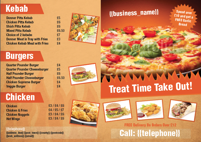 Folded leaflet design templatecloud